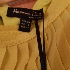 Massimo Dutti Yellow Maxi Dress Size 2 NWT